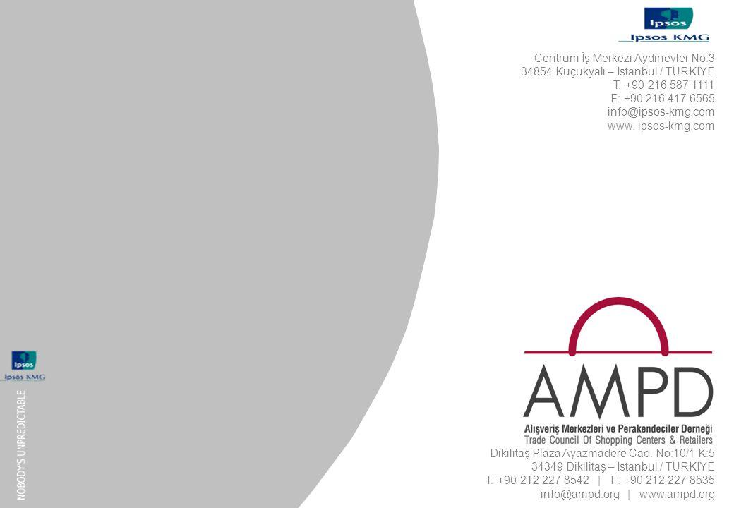 13 - 60 AMPD işbirliğinde Ipsos KMG tarafından hazırlanmıştır. AMPD Dikilitaş Plaza Ayazmadere Cad. No:10/1 K:5 34349 Dikilitaş – İstanbul / TÜRKİYE T