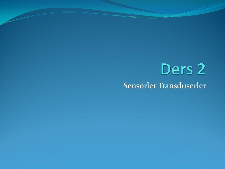 Sensörler Transduserler