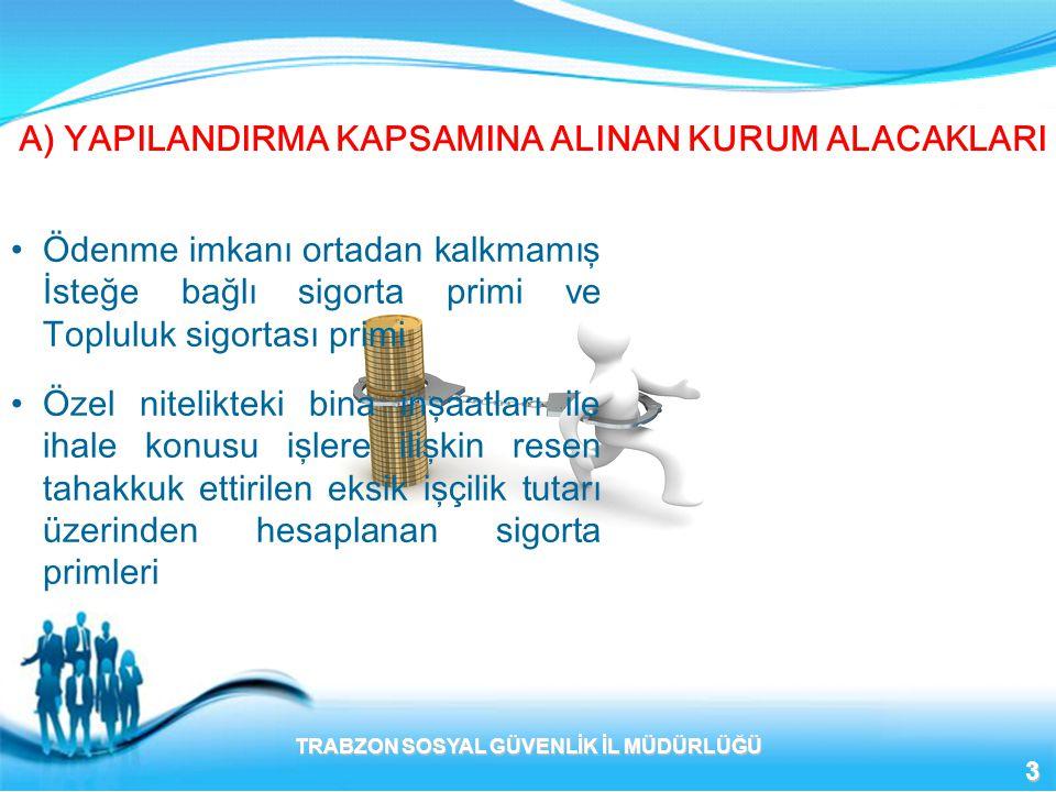 K) 6183 SAYILI KANUNA TABİ BORÇLARIN YAPILANDIRILMASI •6183 Sayılı kanuna göre tecil edilmiş ve ödemeleri devam edenler kalan taksit tutarları için müracaatları halinde bu kanun hükümlerinden yararlanırlar.