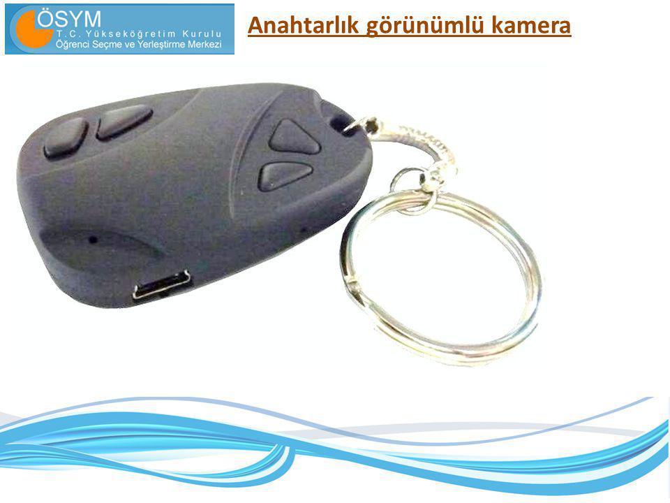 Anahtarlık görünümlü kamera