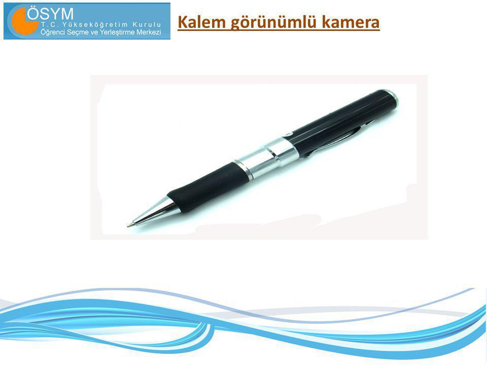 Kalem görünümlü kamera