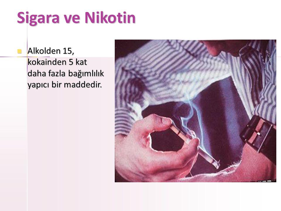 Sigara ve Gençler  Sigara başlama yaşı 12'ye düşmüştür  Sigara başlama nedenleri: –Akran etkisi –Sigaranın kolay ulaşılabilirliği –Rol modellerin sigara içici oluşu –Görsel basın, film, klip –Gizli reklam ve promosyonlardır Sigarayı bir kez deneyen 4 kişinin 3 tanesi sigara bağımlısı olmaktadır Ülkemizde •Sigara ucuz •Tane ile satış !!.