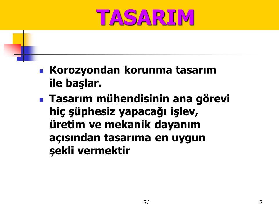 3623 TASARIM TASARIM Şekil 120. Hatalı birleştirmeler sonucu ortaya çıkan aralıklar
