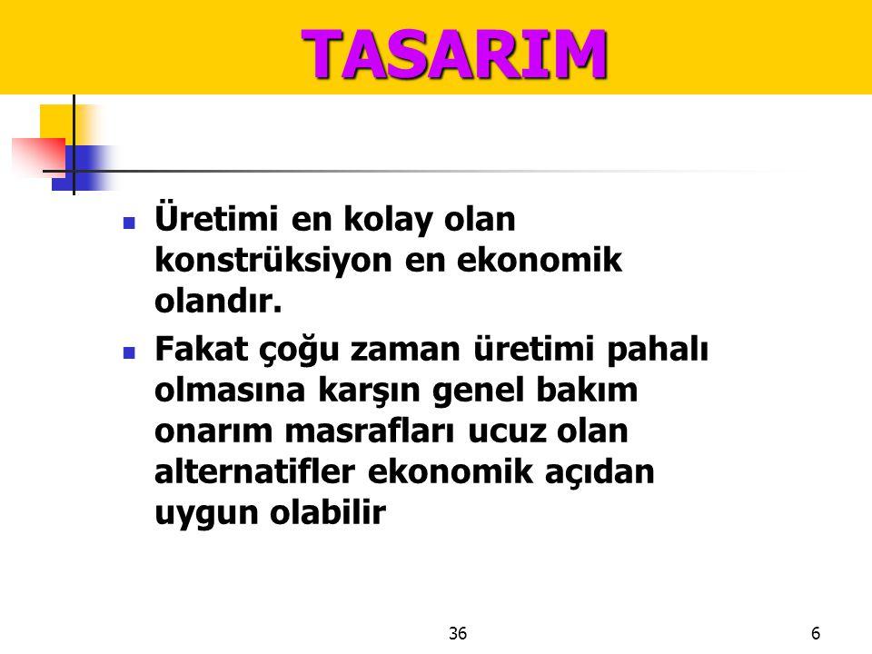 3617 TASARIM TASARIM  altlarından nemliliğin meydana gelmesine imkan olmamalıdır (Şekil 114 ve Şekil 115).
