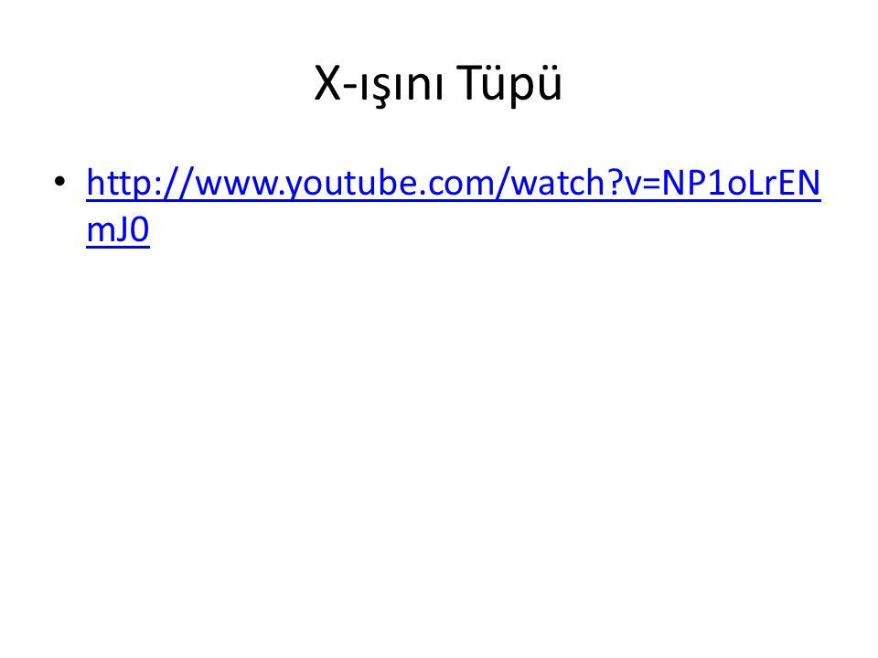 X-ışını Tüpü • http://www.youtube.com/watch?v=NP1oLrEN mJ0 http://www.youtube.com/watch?v=NP1oLrEN mJ0