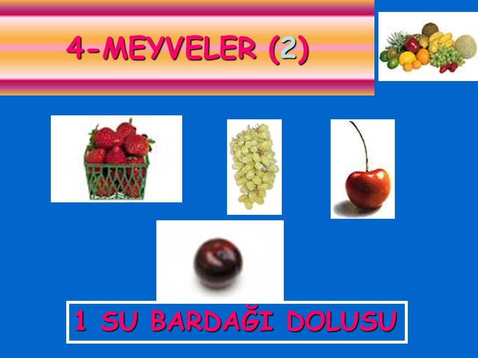 1 SU BARDAĞI DOLUSU 4-MEYVELER (2)