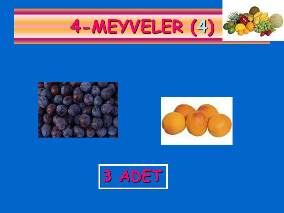 4-MEYVELER (4) 3 ADET