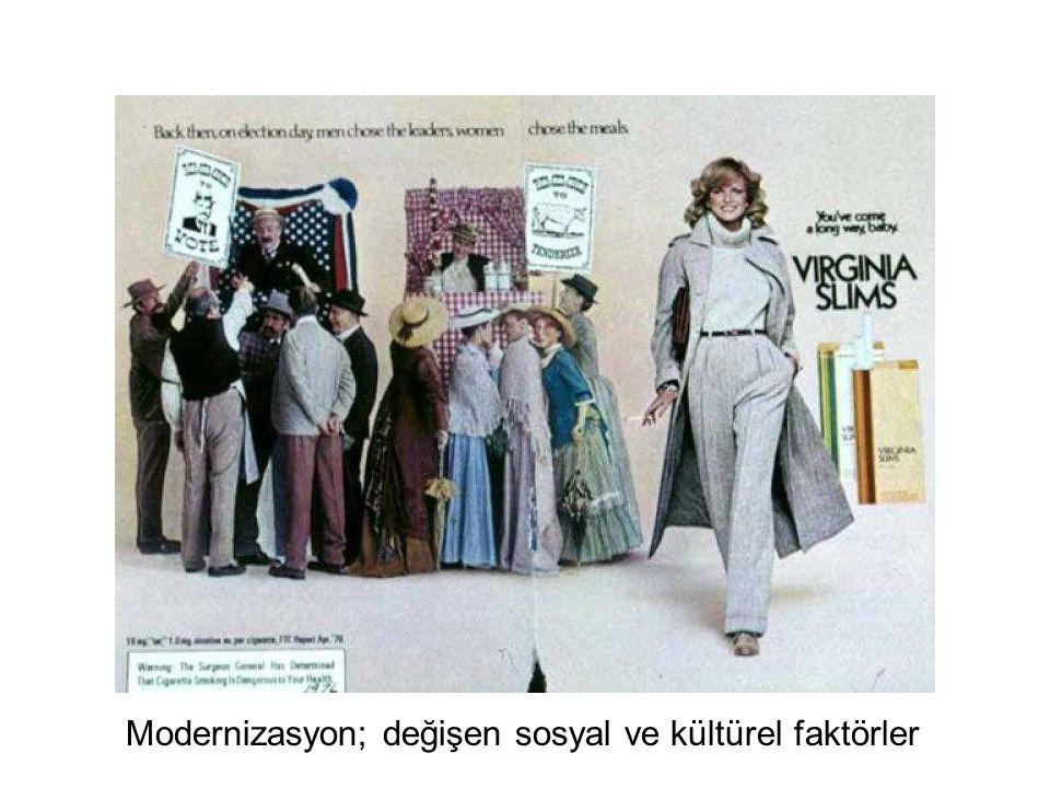 Modernizasyon; değişen sosyal ve kültürel faktörler