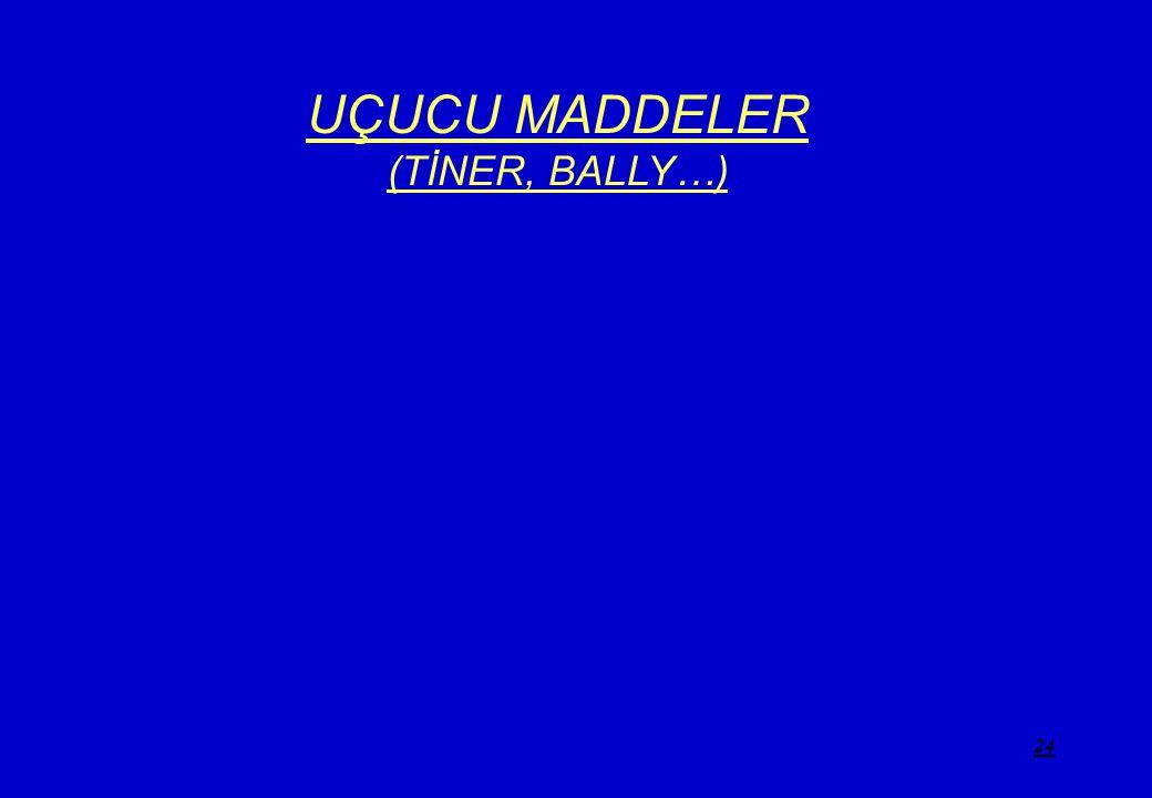 24 UÇUCU MADDELER (TİNER, BALLY…)