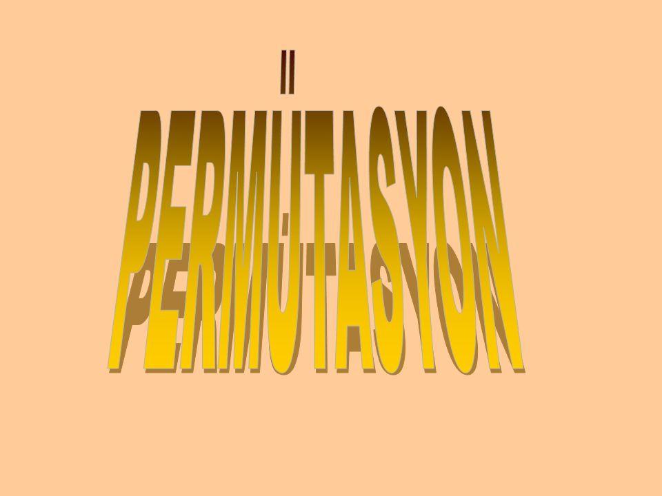 Permütasyon, birbirinden ayrılabilir nesnelerin değişik sıralarda dizilmelerini ifade eden kavramdır.