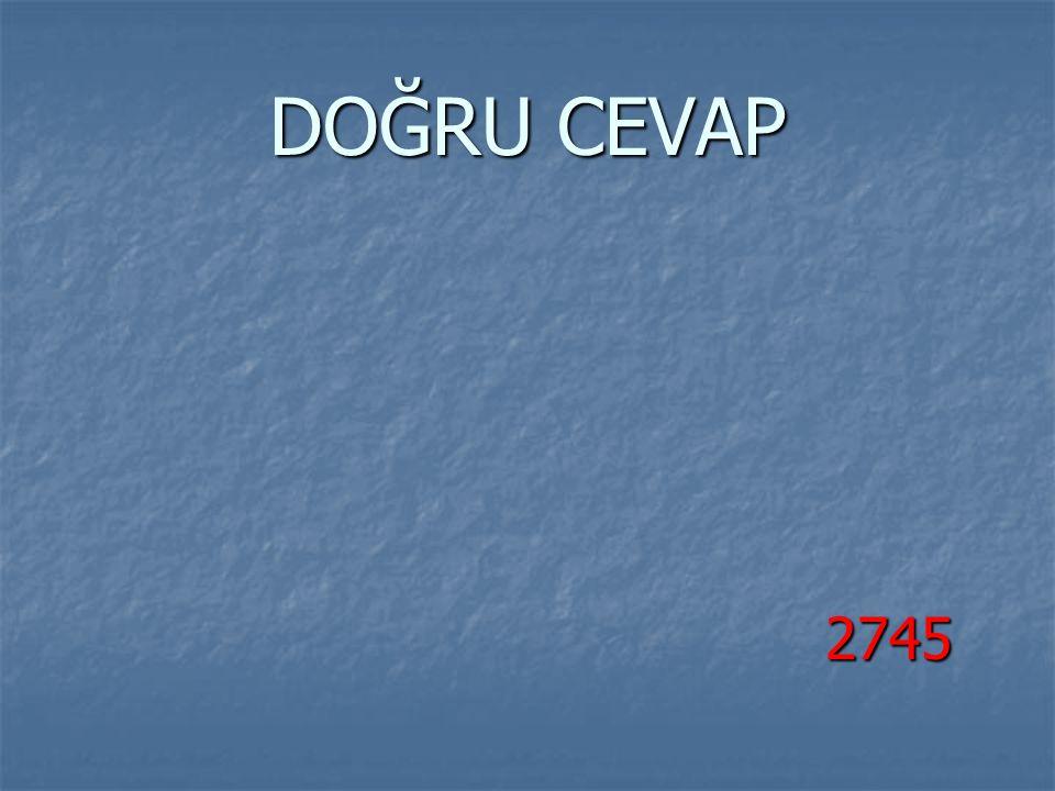 DOĞRU CEVAP 2745 2745