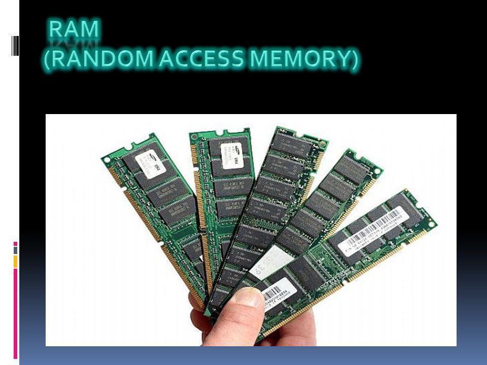  RAM, İngilizce bir terim olup Random Access Memory kelimelerinin baş harflerinden oluşan bir kısaltmadır.