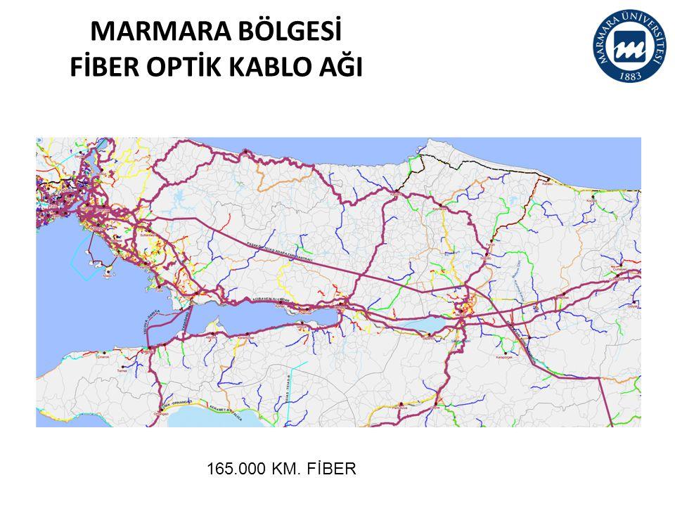 MARMARA BÖLGESİ FİBER OPTİK KABLO AĞI 165.000 KM. FİBER