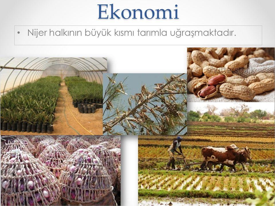 © 2014 by Nafissa Zakari W. Ekonomi •N•Nijer halkının büyük kısmı tarımla uğraşmaktadır. 16