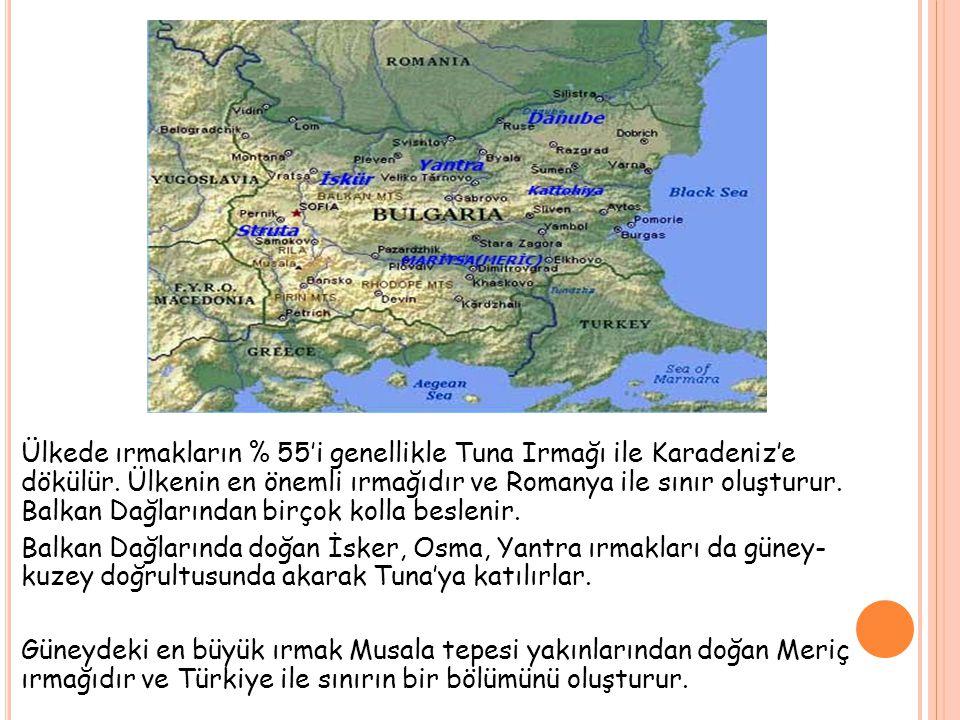 İklim üzerindeki en önemli etken, ülkeyi ikiye bölen Balkan dağlarıdır.