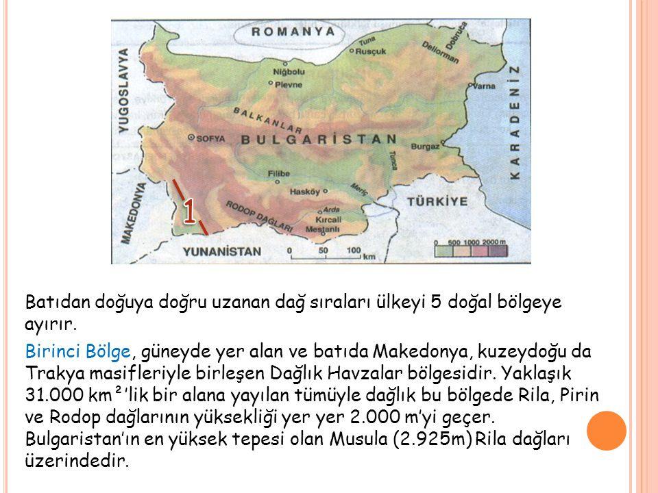 İkinci Bölge, Dağlık Havzalar ile Balkan kütlesinin arasındadır.