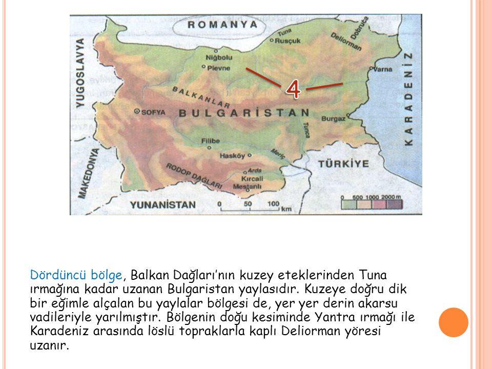 Beşinci bölge de, ülkenin en kuzey kesimini kaplayan, yaklaşık 32.000 km²'lik bir alan boyunca uzanan Tuna Ovasıdır.
