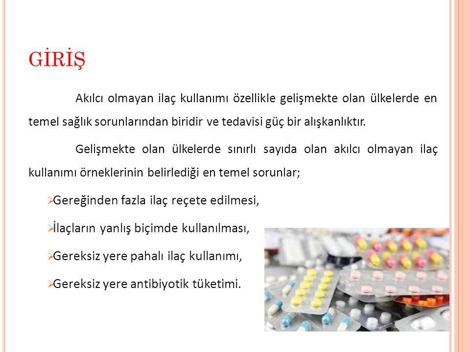  Tablo 2 (Devamı) BULGULAR 14 Evde bulundurmuş olduğunuz ilaçları tekrar kullanmak istediğinizde kimden bilgi alırsınız.