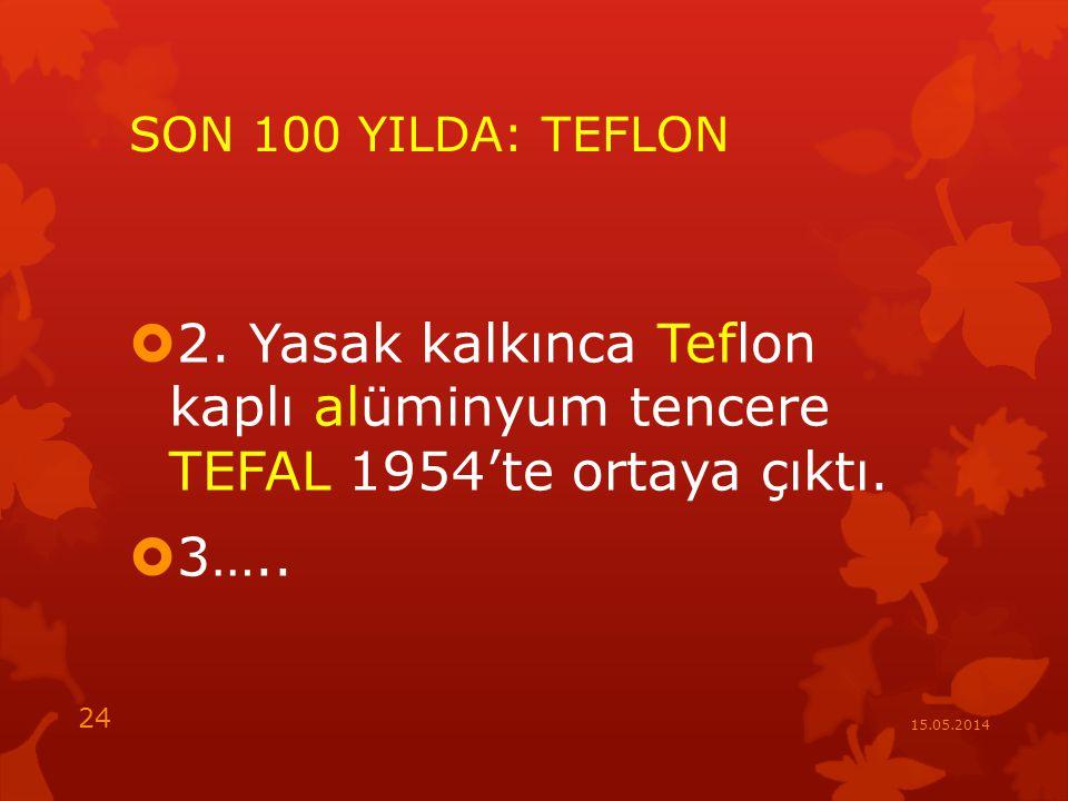 SON 100 YILDA: TEFLON  2.