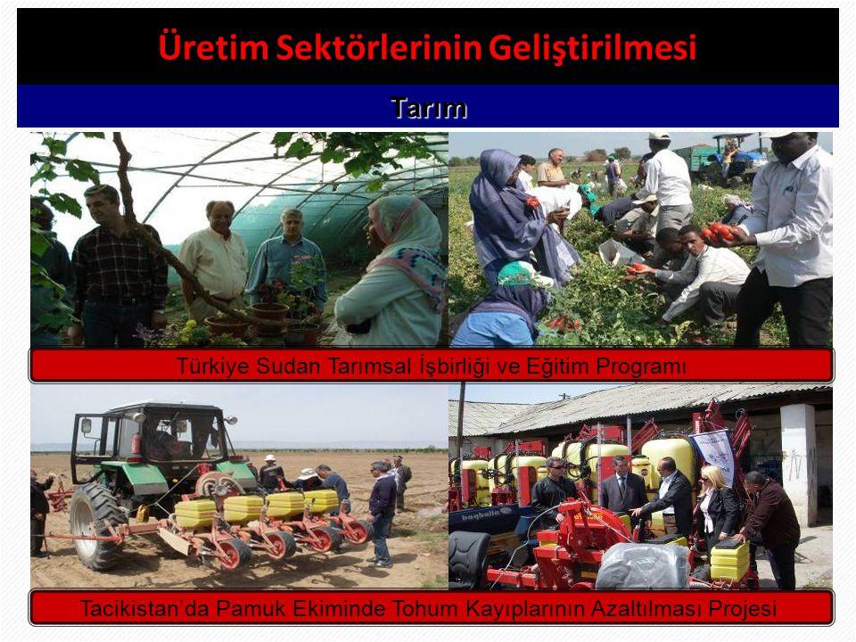 26 Üretim Sektörlerinin Geliştirilmesi Tarım Türkiye Sudan Tarımsal İşbirliği ve Eğitim Programı Tacikistan'da Pamuk Ekiminde Tohum Kayıplarının Azalt