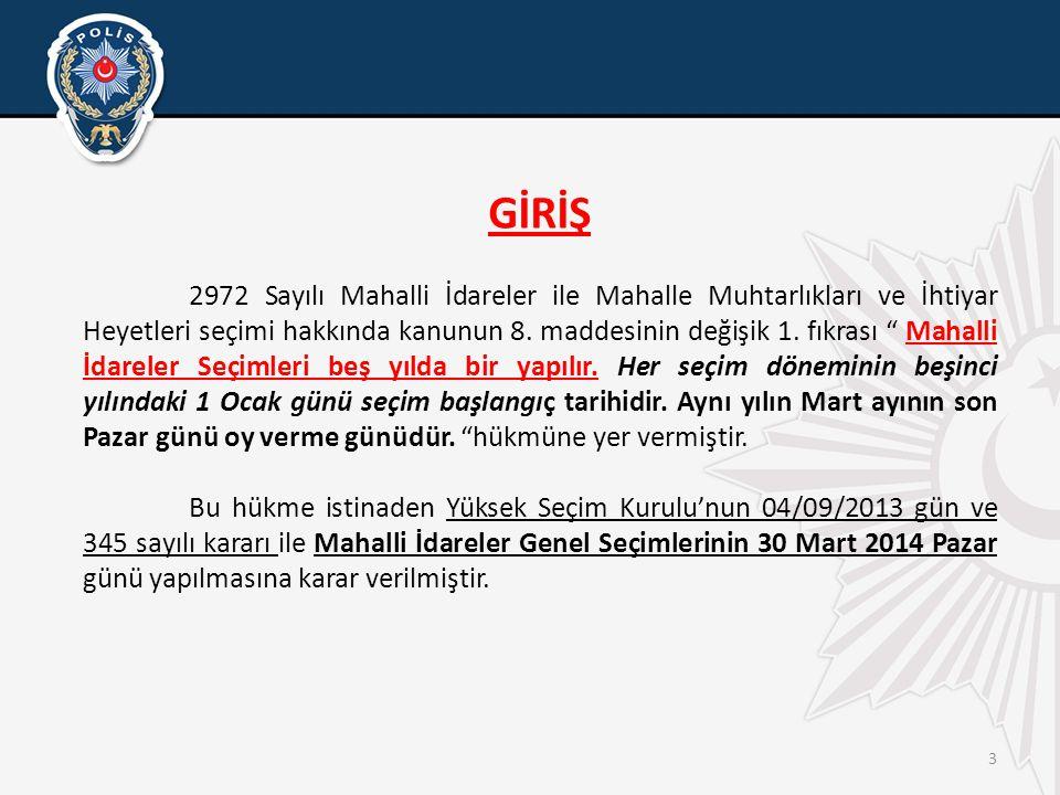 4 SEÇİM ÖNCESİ ALINACAK TEDBİRLER • Mahalle muhtarlıklarında, seçimlere katılacak olan seçmenlerle ilgili bilgilerin bulunduğu Muhtarlık Askı Listeleri 10 Ocak 2014 - 23 Ocak 2014 tarihleri arasında asılı bulunacaktır.