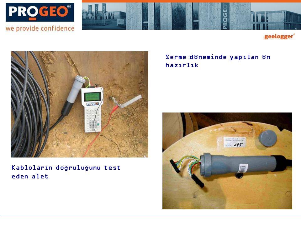 Kabloların doğruluğunu test eden alet Serme döneminde yapılan ön hazırlık