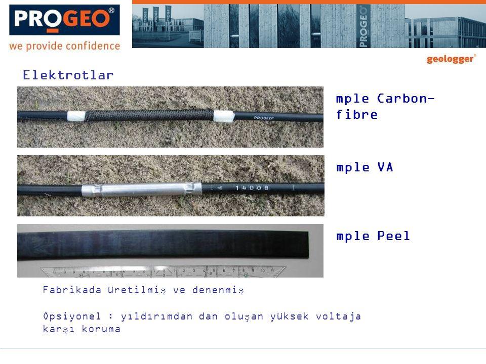 mple Carbon- fibre mple VA mple Peel Fabrikada üretilmiş ve denenmiş Opsiyonel : yıldırımdan dan oluşan yüksek voltaja karşı koruma Elektrotlar