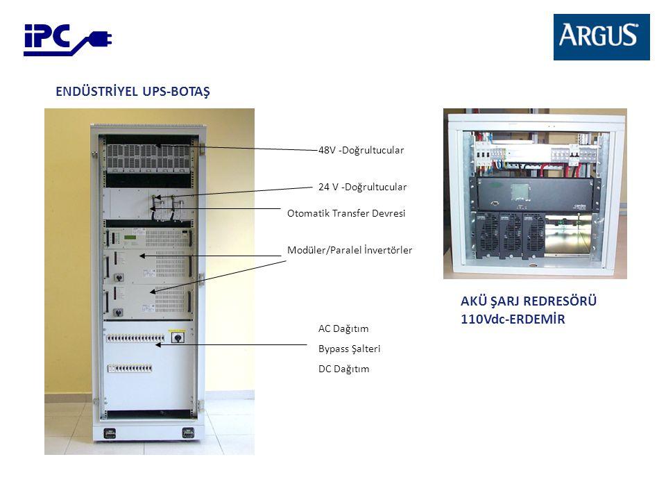 48V -Doğrultucular Otomatik Transfer Devresi Modüler/Paralel İnvertörler AC Dağıtım Bypass Şalteri DC Dağıtım 24 V -Doğrultucular ENDÜSTRİYEL UPS-BOTA