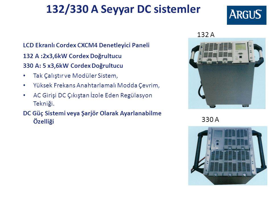 LCD Ekranlı Cordex CXCM4 Denetleyici Paneli 132 A :2x3,6kW Cordex Doğrultucu 330 A: 5 x3,6kW Cordex Doğrultucu • Tak Çalıştır ve Modüler Sistem, • Yük