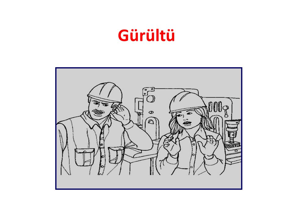 İŞLETME İÇİNDE GÜRÜLTÜ İLE MÜCADELE • Pasif Teknik Önlemler : • Bunlar, gürültünün kaynağının özel cidarlarla çevrilmesi (ses söndürücü, absorbe edici) cidarlarla çevrilmesi ve/veya bu nitelikteki ara tabakaların kullanılması ve işletmenin inşasında duvarların ve tabanın ses geçirmeyecek ve sesi yansıtmayacak materyalden yapılmasının planlanması, gürültülü bölümlere işletmenin kenar alanlarında yer verilmesi gibi önlemlerdir.