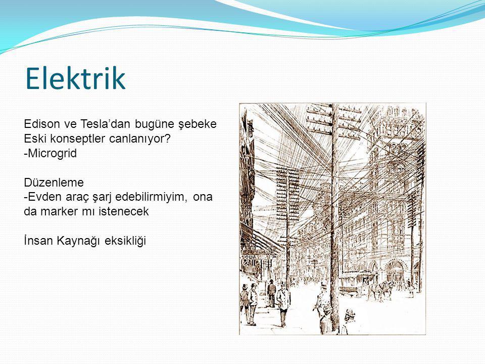 Elektrik Edison ve Tesla'dan bugüne şebeke Eski konseptler canlanıyor? -Microgrid Düzenleme -Evden araç şarj edebilirmiyim, ona da marker mı istenecek