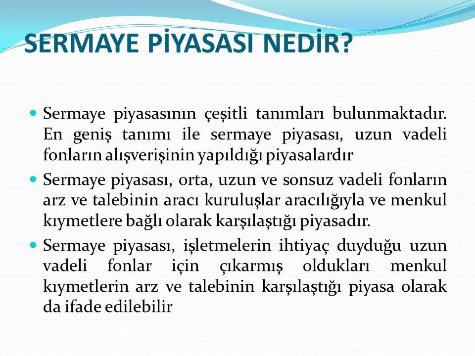 Cumhuriyet Döneminde Sermaye Piyasası  1447 saylı kanun ile Esham ve Tahvilat Borsasının adı İstanbul Menkul Kıymetler Borsası olarak değiştirilmiştir.