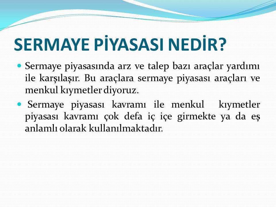 Cumhuriyet Döneminde Sermaye Piyasası  1960 yıllara kadar Türkiye'de sermaye piyasası ile ilgili önemli bir ilerleme yaşanmamıştır.
