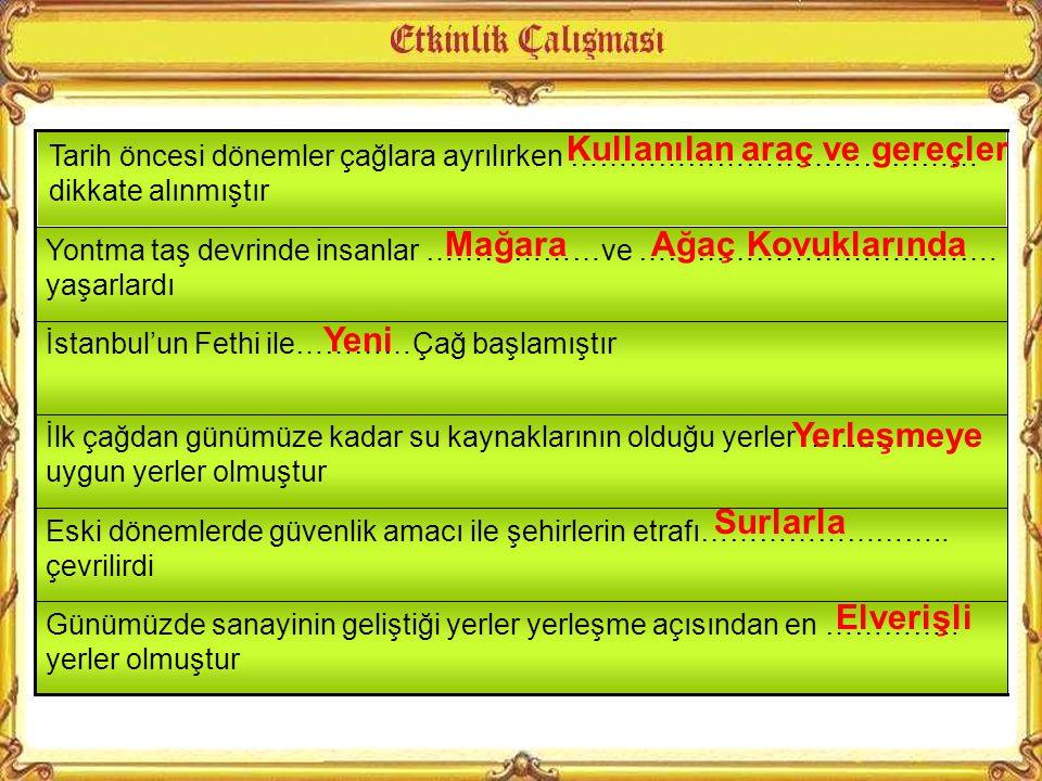 Anadolu daha ilk yerleşmelerden itibaren insanlar için tercih edilir bir yer olmuştur.