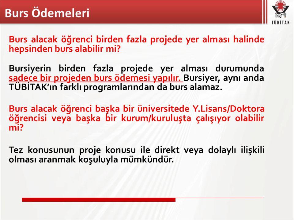 Türkiye'deki üniversitelerde lisansüstü öğrenim gören yabancı uyruklu kişiler proje kapsamında Burs alabilirler mi.