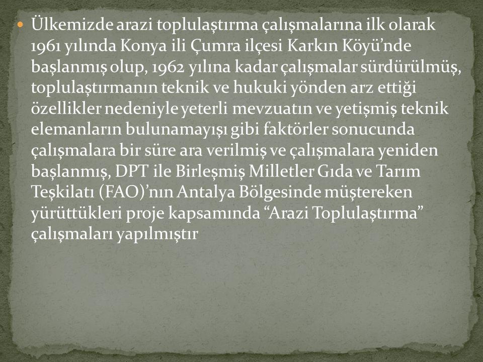  Bu tüzük Toprak ve Tarım Reformu bölgesi dışında kalan alanlarda 2005 yılına kadar uygulanmıştır.