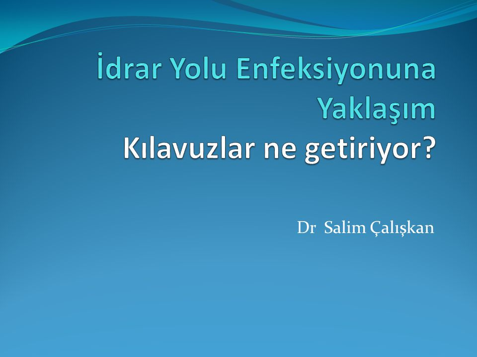 Dr Salim Çalışkan