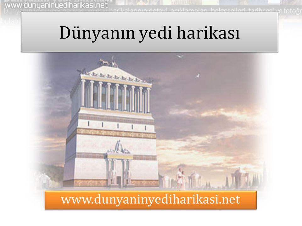 Dünyanın yedi harikası www.dunyaninyediharikasi.net