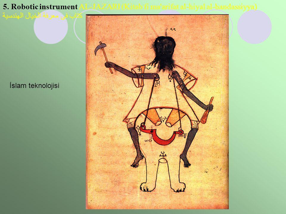 5. Robotic instrument AL-JAZARI (Kitab fi ma'arifat al-hiyal al-handassiyya) كتاب فى معرفة الخيال الهندسية İslam teknolojisi