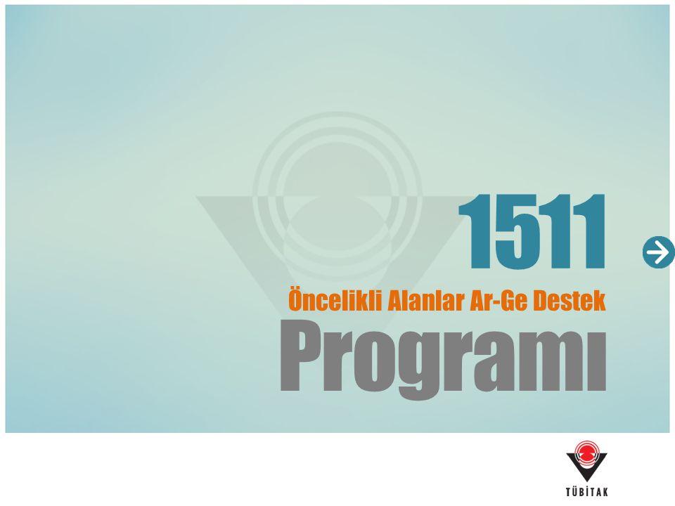 Programı 1511 Öncelikli Alanlar Ar-Ge Destek