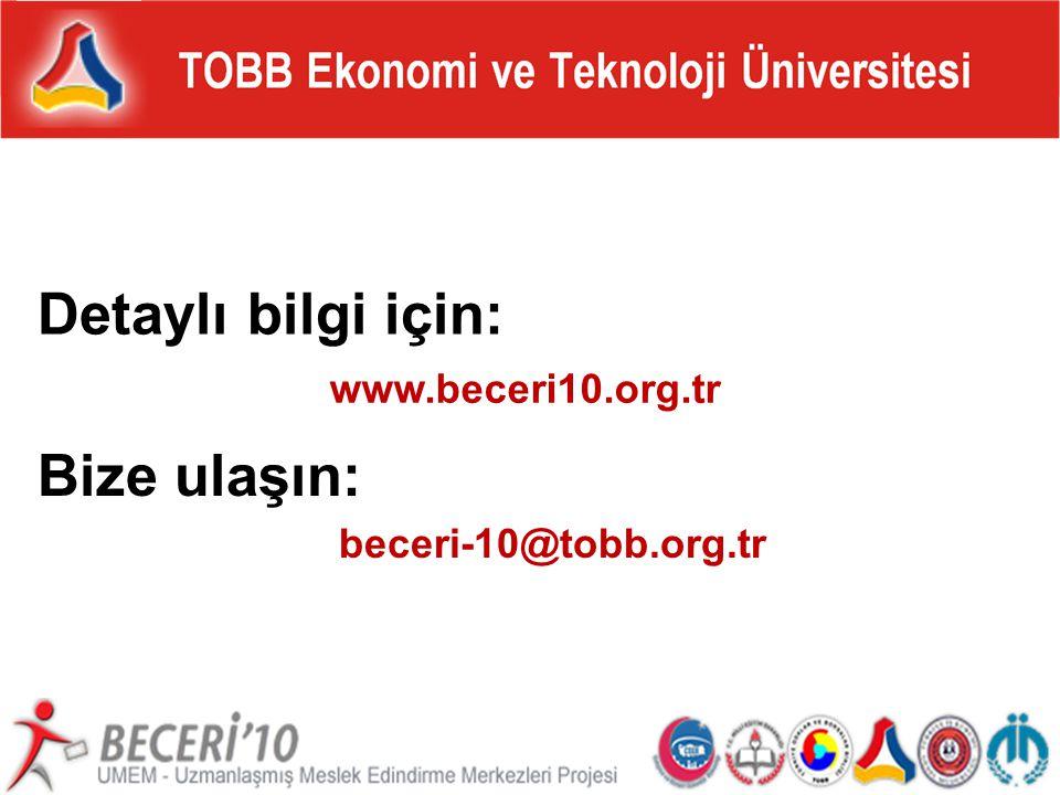 tepav BECERİ'10: Beceri Kazandırma ve İş Edindirme Seferberliği www.beceri10.org.tr Detaylı bilgi için: Bize ulaşın: beceri-10@tobb.org.tr