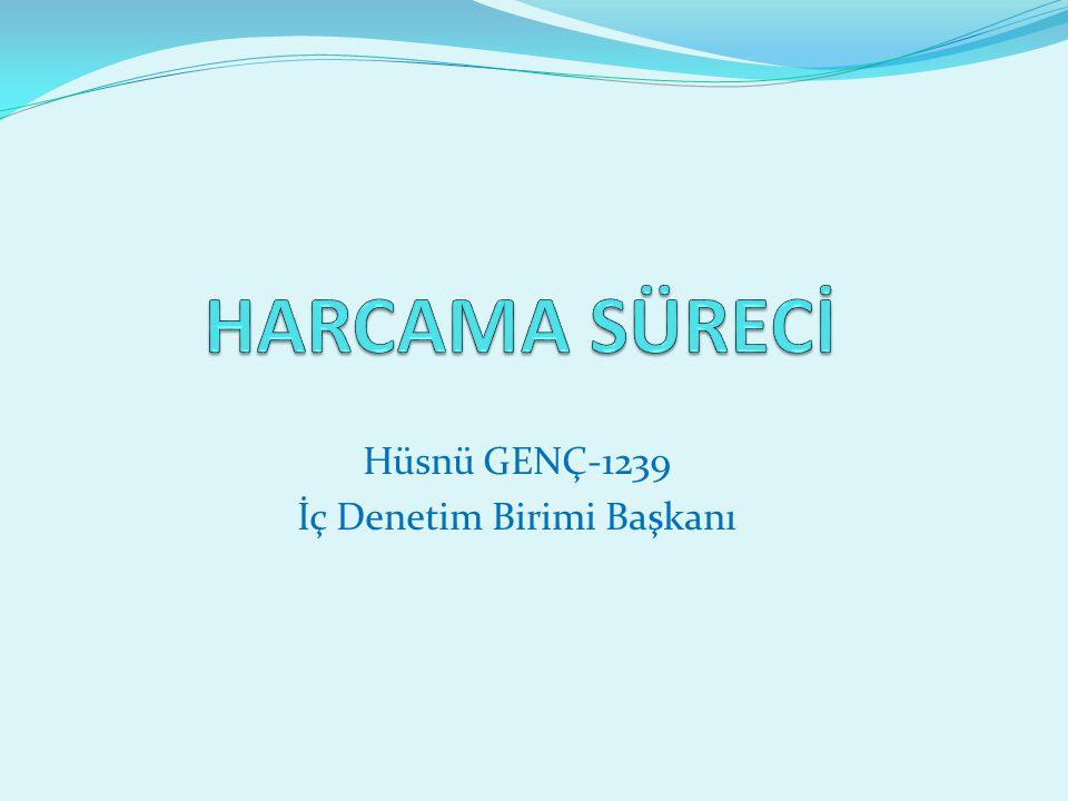 Hüsnü GENÇ-1239 İç Denetim Birimi Başkanı
