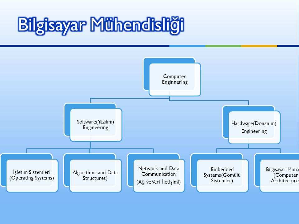 Computer Enginnering Software(Yazılım) Engineering İ şletim Sistemleri (Operating Systems) Algorithms and Data Structures) Network and Data Communicat