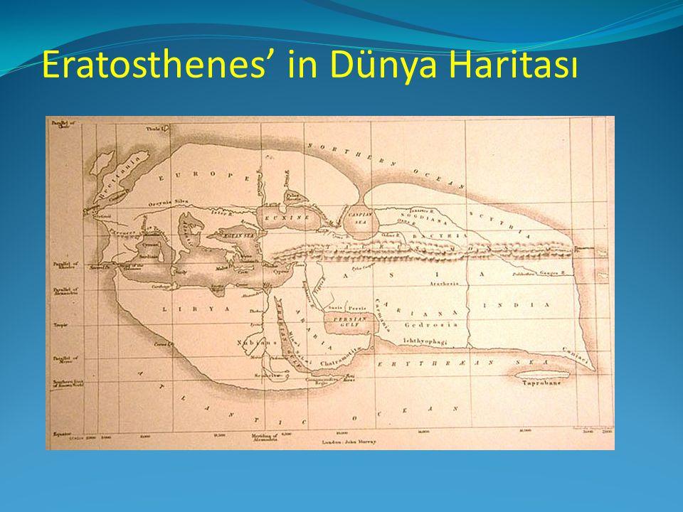 Eratosthenes' in Dünya Haritası