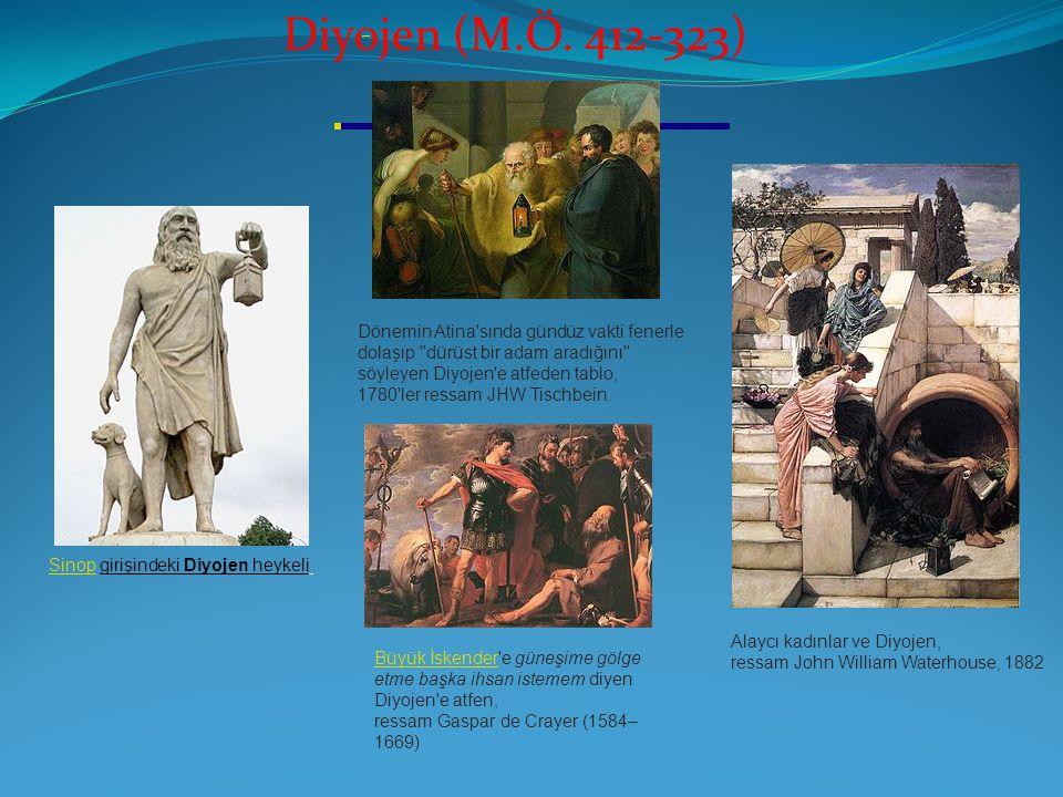 SinopSinop girişindeki Diyojen heykeli Diyojen (M.Ö. 412-323) Dönemin Atina'sında gündüz vakti fenerle dolaşıp
