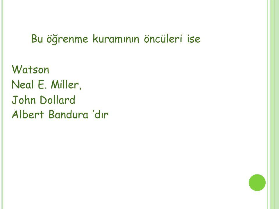 SOSYAL BİLİŞSEL KURAMIN DAYANDIĞI İLKELER 1.