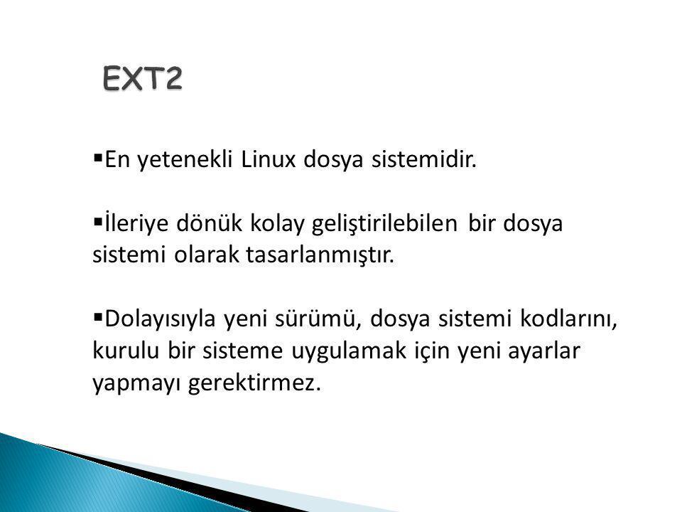  En yetenekli Linux dosya sistemidir.