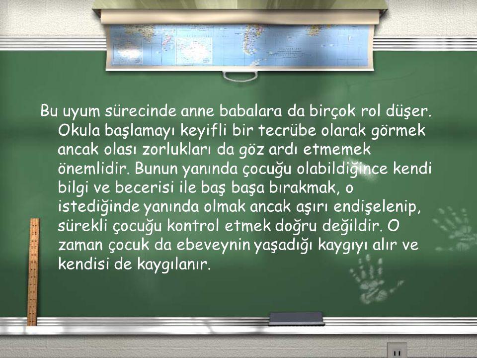 Çocuğun Okula Hazırlığı Çocuğun okula hazırlığını belirten 5 boyut tanımlanmıştır: 1)Fiziksel sağlık ve motor gelişim 2)sosyal ve duygusal gelişim 3)öğrenmeye yaklaşımı 4) dil gelişimi 5) biliş ve genel kültür