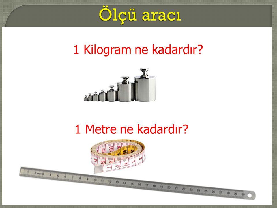 1 Kilogram ne kadardır? 1 Metre ne kadardır?