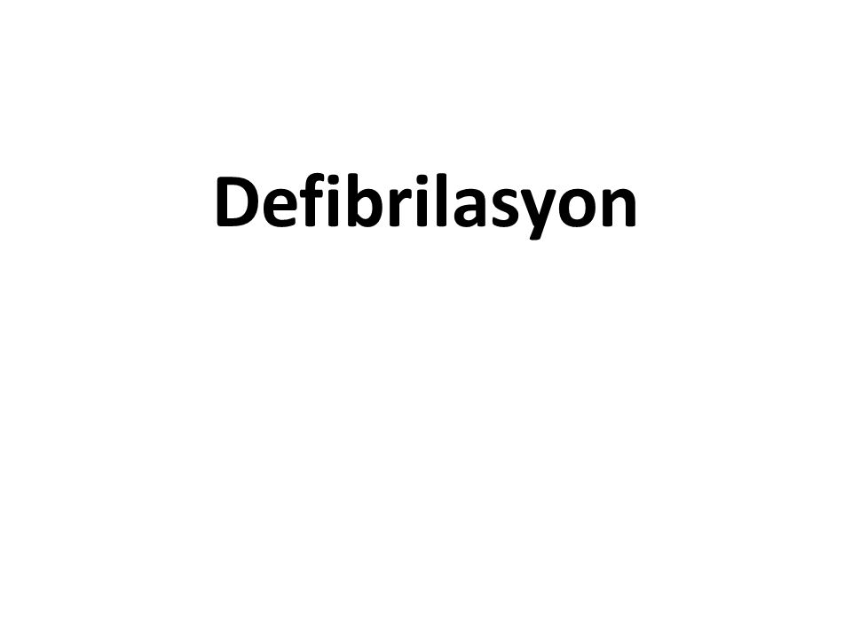 Defibrilasyon